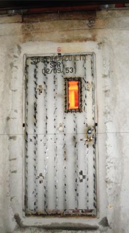 The Steel Fireproof door 2 Hrs  rate, Single Door with Glass